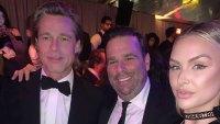Lala Kent and Randall Emmett Pose With Brad Pitt at Golden Globes 2020