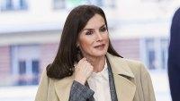 Queen Letizia Plaid Suit January 16, 2020