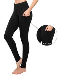 SATINA Leggings taille haute (pleine longueur avec poches noir (