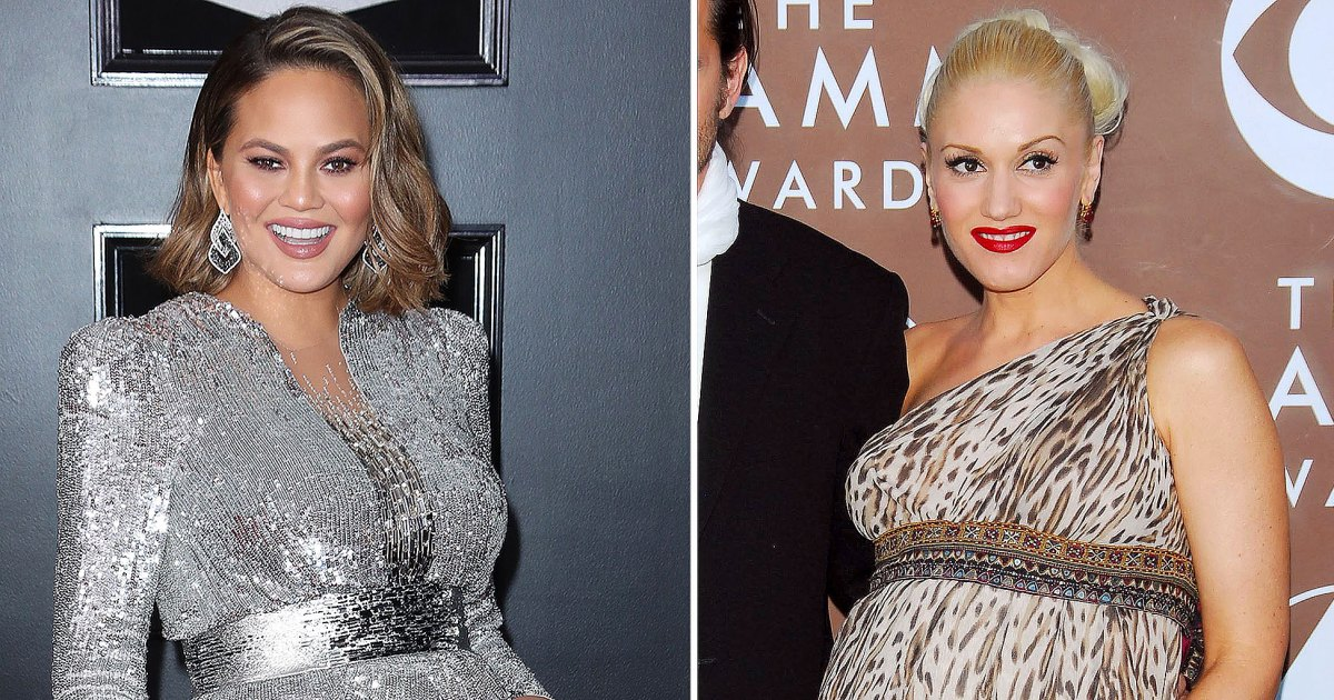 Pregnant Stars Show Baby Bumps at Grammys: Chrissy Teigen, Gwen Stefani and More