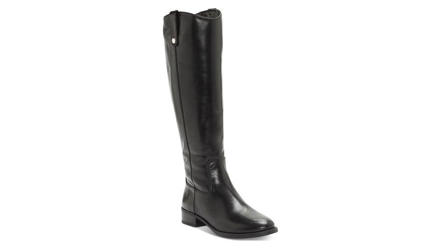 INC Fawne Wide-Calf Riding Leather Boots