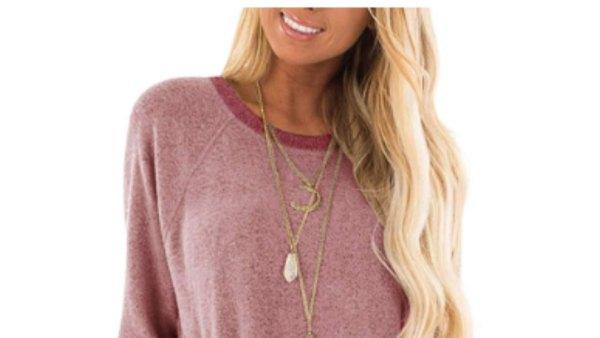 GADEWAKE Women's Casual Color Block Sweatshirt