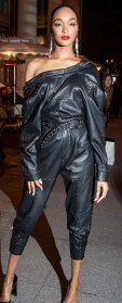 Jourdan Dunn Leather Jumpsuit February 27, 2020