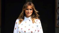 Melania Trump Embroidered Dress February 25, 2020