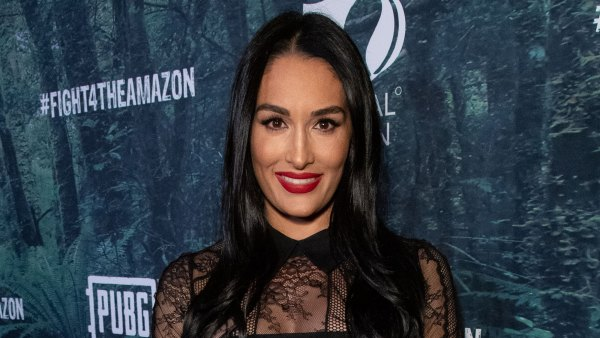 Nikki Bella Shows Off Pregnancy Curves I'm Fitted Black Dress: 'My Bump Has Gotten So Much Bigger'