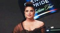 Priyanka Chopra Black Tulle Gown February 22, 2020