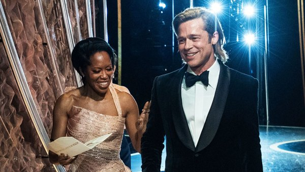 Regina King and Brad Pitt Backstage What You Didnt See on TV at Oscars 2020