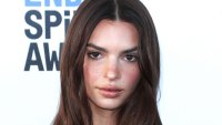 EmRata Poses in a Short, Curly Wig