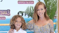 Kendra Wilkinson and Children Hank Baskett Jnr and Alijah Baskett