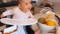Shay Mitchells Daughter Atlas in her Quarantine Kitchen