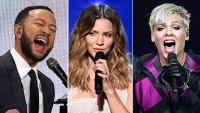 John Legend Katharine McPhee Pink Stars Perform Online Concerts Amid Coronavirus