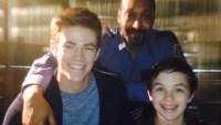 Grant Gustin, Jesse L. Martin, and Logan Williams Flash Alum Logan Williams Dead at 16