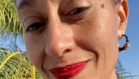 Tracee Ellis Ross Wears Her Trademark Red Lipstick While Self-Isolating