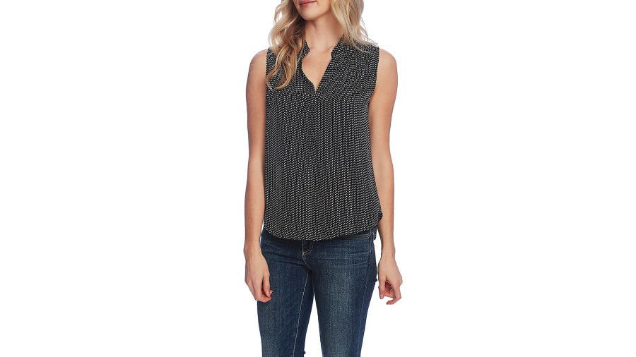 Vince Camuto Print Sleeveless Top