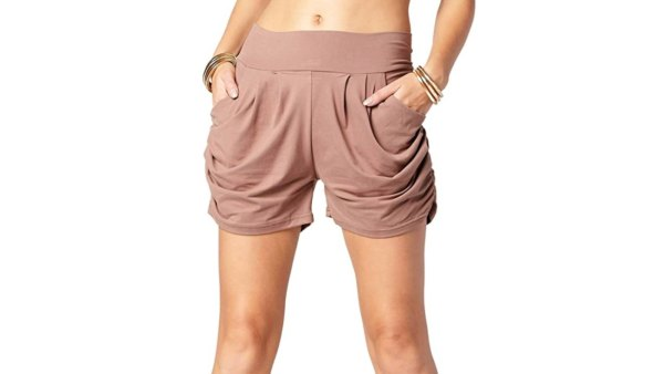 Conceited Premium Ultra Soft Harem Shorts (Solid Mocha)