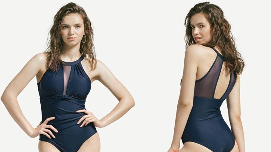 GRND Women's One Piece High Neck Swimsuits