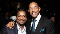 Alfonso Ribeiro and Will Smith in 2015 Alfonso Ribeiro Plans to Reach Out to Will Smith and Jada Pinkett Smith After Marriage Drama