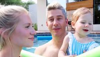 Arie Luyendyk Jr and Lauren Burnham Daughter Alessi First Swimming Lesson