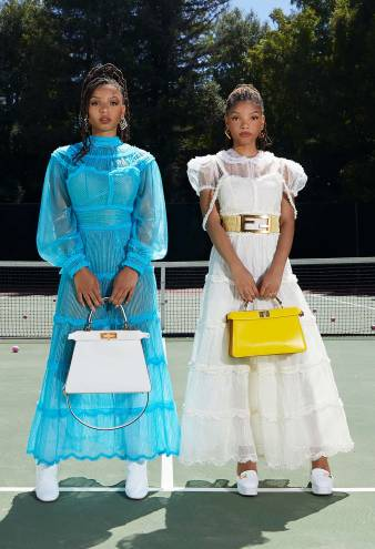 Chloe X Halle Did Their Own Glam for Their Fendi Campaign