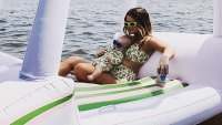 Maren Morris and Her Baby Boy Twin in Matching Swimwear: 'Motor-floatin'