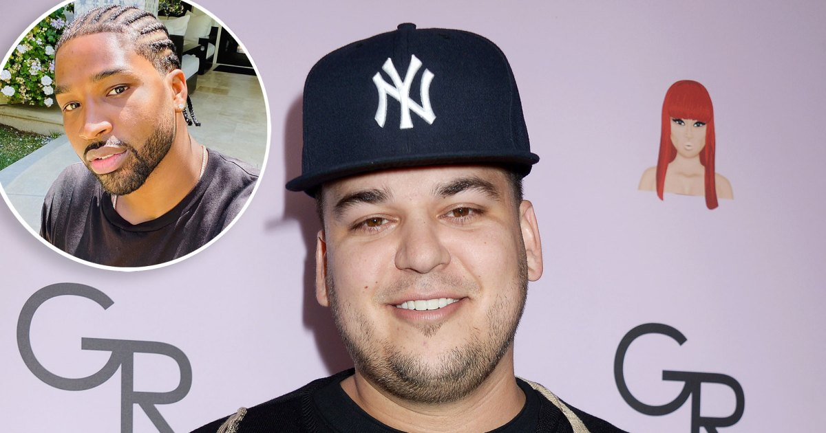 Rob Kardashian Trolls Tristan Thompson S New Braided Hairstyle