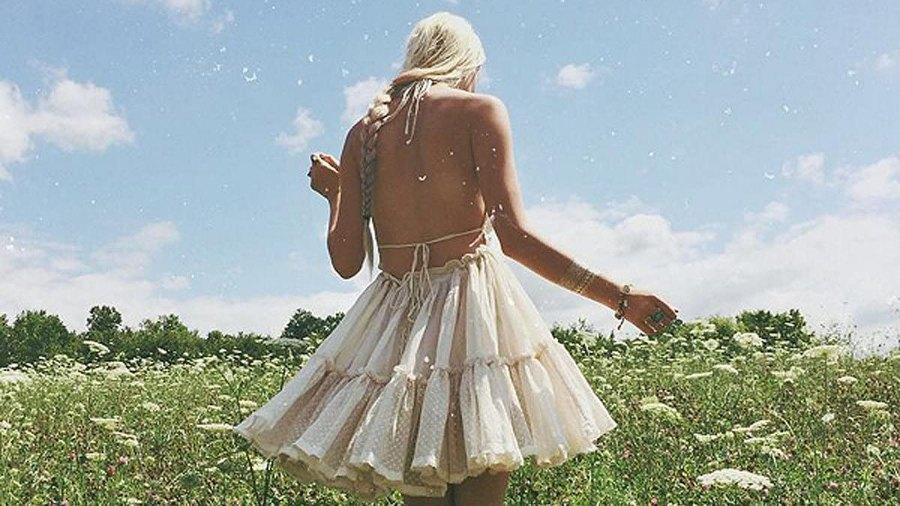 R.Vivimos Summer Halter Deep V Patchwork Mini Dress