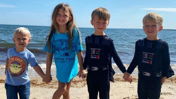Alec Baldwin and Hilaria Baldwin Family Album Holding Hands on Beach Instagram