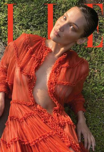 Pregnant Gigi Hadid Photographed Bella's August 'Elle' Magazine Cover
