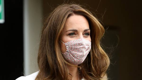 Duchess Kate Wears Floral Face Mask While Attending Event UK Kate Middleton
