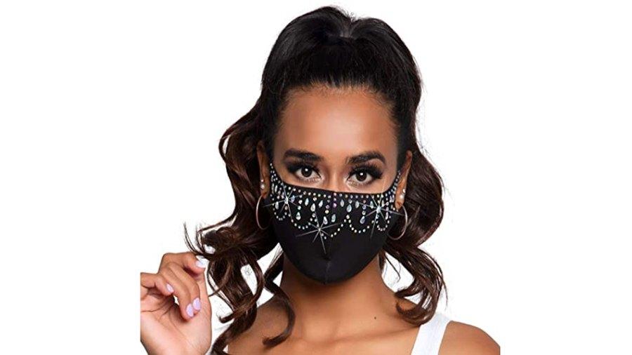 Leg Avenue Rhinestone Fashionable Face Mask