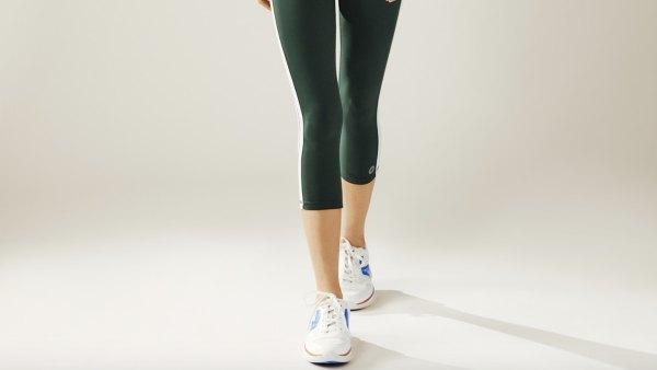 Reflective-Stripe Cropped Leggings