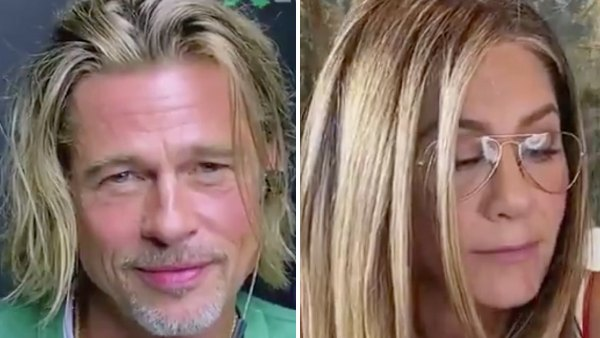 Brad Pitt Blushes as Jennifer Aniston Calls Him Cute During Table Read 2