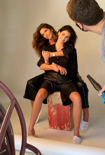 Cindy Crawford Kaia Gerber Twin Mother-Daughter Campaign Shoot