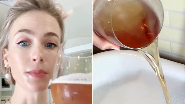 Why January Jones Pours Beer Into Her Bath