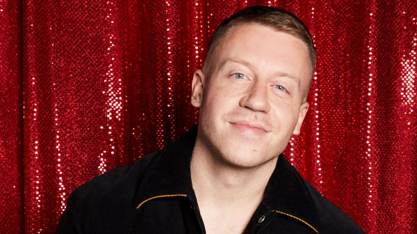 OMG! Macklemore Looks Unrecognizable With a Mustache and Curly Hair