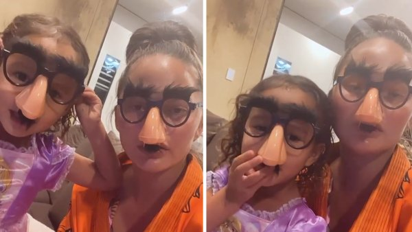 Chrissy Teigen and Luna Are Unrecognizable in Gag Glasses