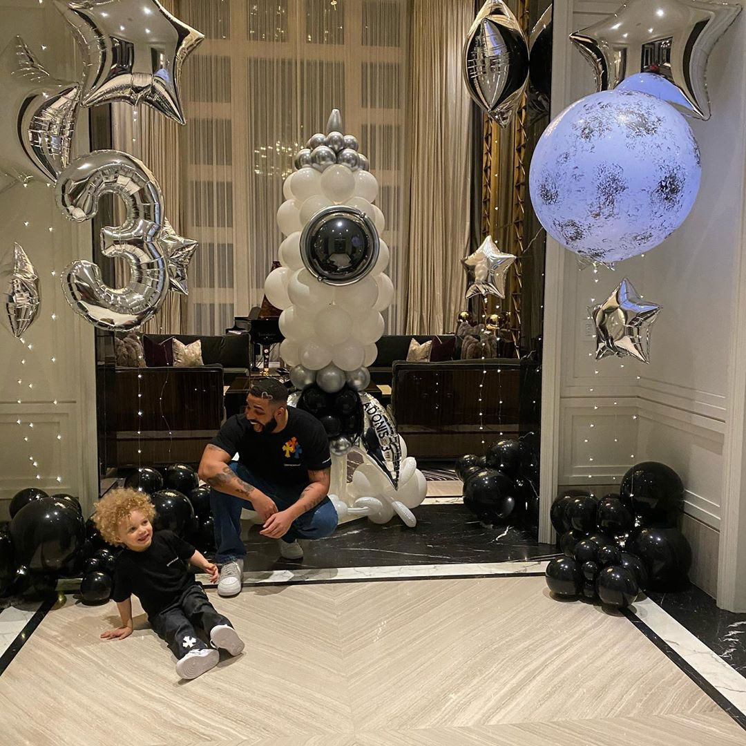 Drake Celebrates Son Adonis' 3rd Birthday With Party Pics: 'Young Stunna'