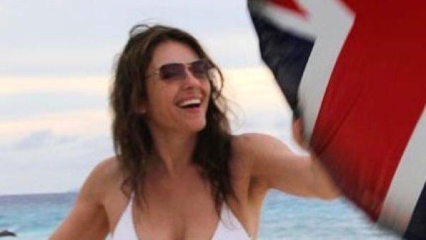 Elizabeth Hurley Chic White Bikini