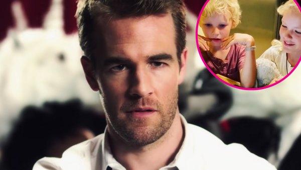 James Van Der Beek's Kids Hilariously React to His Appearance in Kesha's Blow Music Video p