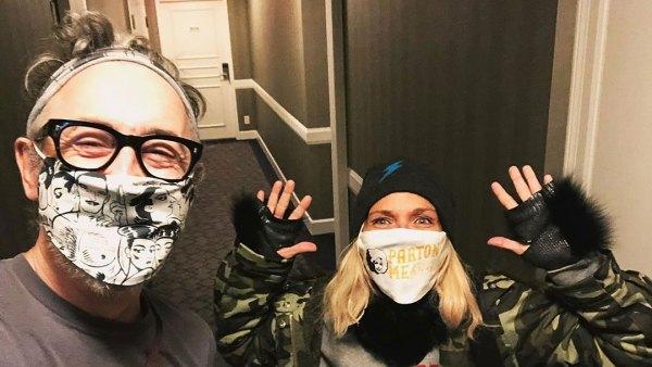 Kristin Chenoweth and Alan Cumming Celebrities Wearing Masks Amid The Coronavirus Pandemic