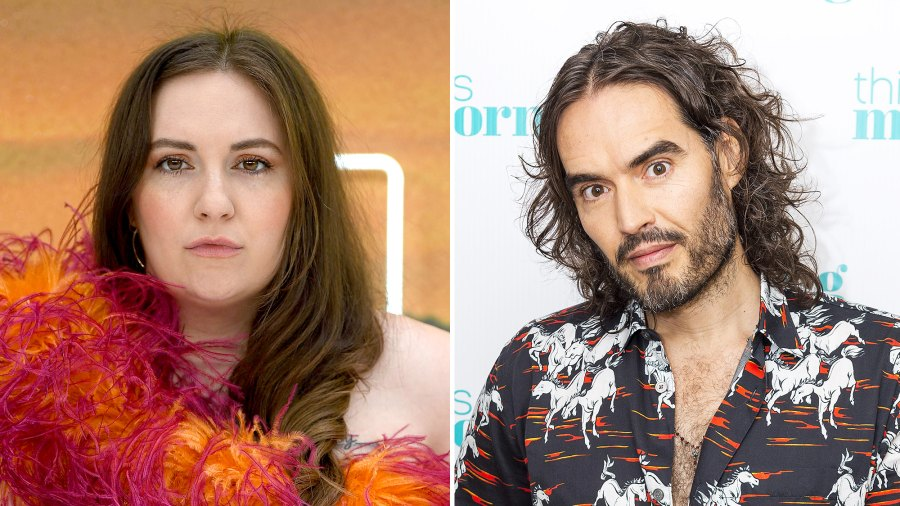 Lena Dunham and Russell Brand Gala