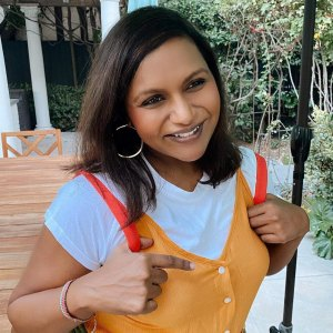 Mindy Kaling Dresses Up Never Have I Ever Character Halloween