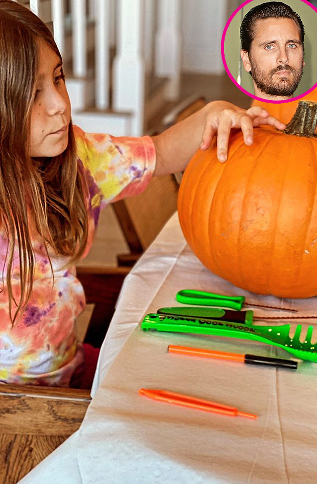 Scott Disick and More Celeb Parents Carving Pumpkins With Kids
