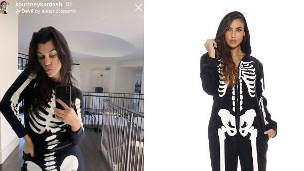 kourtney-kardashian-skeleton-pjs