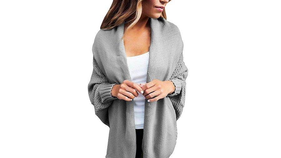 Dearlove Women's Casual Dolman Sleeve Open Front Knit Cardigan