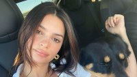 EmRata Wears a Cropped White Top and Unbuttoned Jeans to Show Off Baby Bump