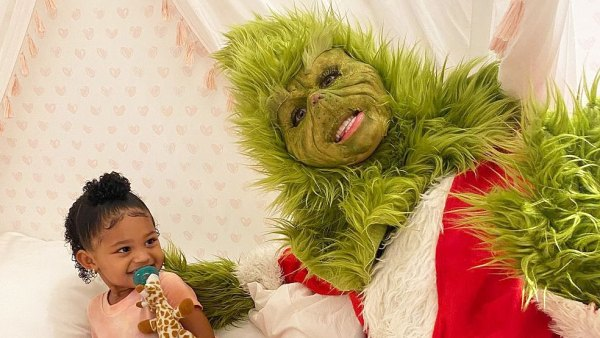 Kylie Jenner Daughter Stormi Is All Smiles Meeting the Grinch