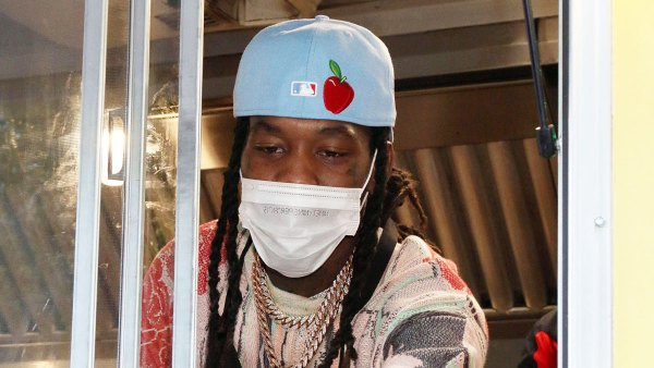 Offset hands out free food from the Slutty Vegan Food Truck