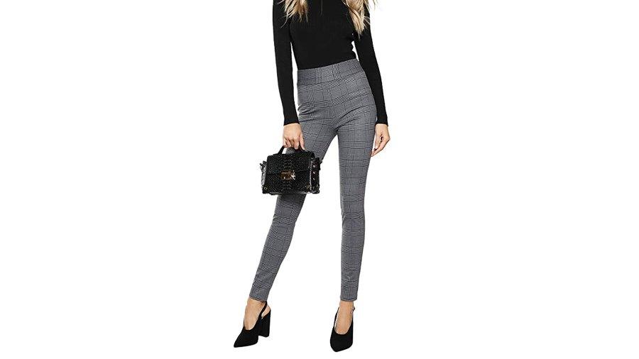 SweatyRocks Women's Casual Stretchy Work Pants