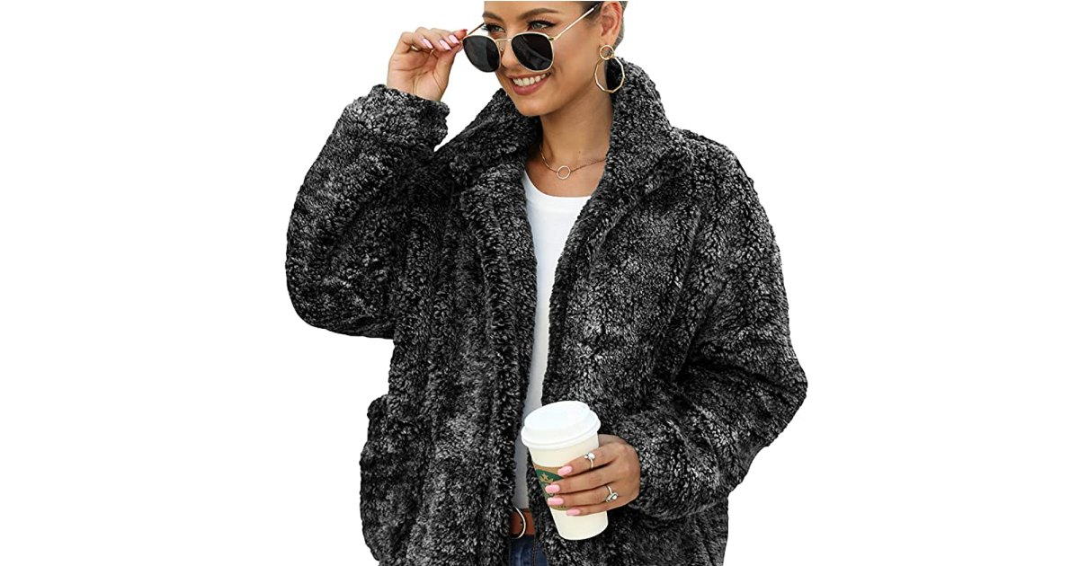 This May Be the Fluffiest Coat Available on Amazon Right Now